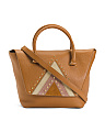 Made In Italy Triangle Leather Satchel