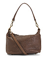 Made In Italy Leather Woven Crossbody
