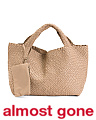 Made In Italy Large Leather Handwoven Tote