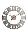 36in Metal Wall Clock