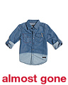Little Boys Dipped Denim Shirt