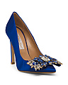 Made In Italy Jeweled Pumps