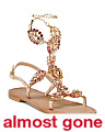 Made In Italy Jeweled Leather Sandals