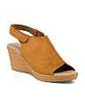 Made In Italy Wedged Suede Sandals