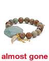 Handcrafted In California African Opal Amazonite Bracelet