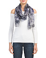 Digital Night Chiffon Scarf