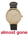 Women's Ancher Mirror Dial Leather Strap Watch