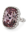 Sterling Silver Swarovski Crystal Statement Ring