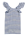 Big Girls Stripe Ruffle Jersey Tank