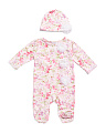 Baby Girls Floral Polly & Vine Sleep N Play Set