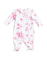Baby Girls Floral Heather Footie Sleep N Play