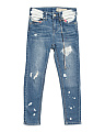 Big Girls Splatter Deconstructed Jeans
