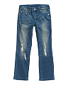 Big Boys Straight Leg Crash Wave Denim Jeans
