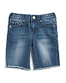 Little Boys Savage Saloon Slim Denim Shorts