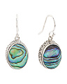 Made In Bali Sterling Silver Abalone Drop Earrings
