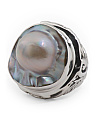 Made In Bali Sterling Silver Mable Pearl Ring