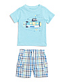 Little Boys 2pc Submarine T-shirt & Short Set