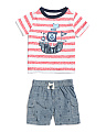 Infant Boys 2pc Pirate T Shirt & Short Set