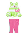Infant Girls 2pc Flamingo Set