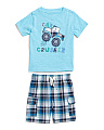 Toddler Boys 2pc Car Crusher T-shirt & Short Set