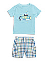 Infant Boys 2pc Submarine T-shirt & Short Set
