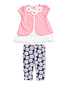 Toddler Girls 2pc Daisy And Capri Set