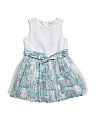 Toddler Girls City Scape Shimmer Dress