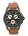 Men's Swiss Made Chronograph Xl Bee Leather Strap Watch