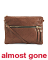 Quad Stitch Leather Crossbody