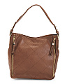 Leather Quad Stitch Hobo