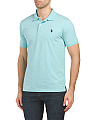 Short Sleeve Heather Jersey Polo