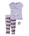 Big Girls 2pc Ready Sweat Go Capri Set With Wristband