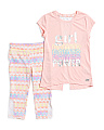 Little Girls 2pc Split Back Active Legging Set