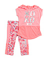 Big Girls 2pc Active Hoodie Capri Set