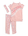 Big Girls 2pc Active Capri Set With Headband