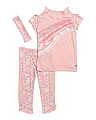 Little Girls 2pc Active Capri Set With Headband