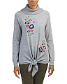 Juniors Christie Tie Front Sweater