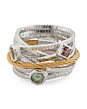 Tango Multi Gemstone Stainless Steel Cable Multi Row Ring