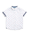 Little Boys All Over Tropical Woven Top