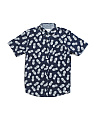 Big Boys Pineapple Print Short Sleeve Shirt