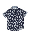 Little Boys Pineapple Print Shirt