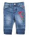 Infant Girl Cropped Denim Jeans