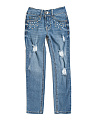 Big Girls Scattered Stone Denim Jeans