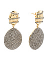 Made In India Sterling Silver And Pave Diamond Drop Earrings