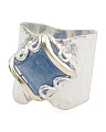 Made In Israel Sterling Silver And 14k Gold Kyanite Ring