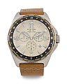 Men's Chronograph Journeyman Leather Strap Watch