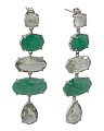 Handcrafted In India Sterling Silver Multi Gemstone Earrings