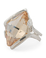 Made In Israel Sterling Silver Swarovski Crystal Ring