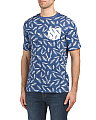 Short Sleeve Feather Print Tee