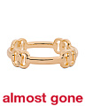 Made In Italy 14k Gold Station Link Bracelet